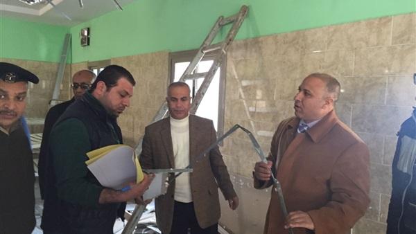 Photo of انهيار جزء من سقف مستشفي الصحة النفسية على اللجنة المكلفة بمعاينته