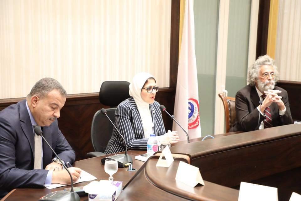 صورة وزيرة الصحة: شعار الفترة المقبلة هو تعليم الطبيب المصري