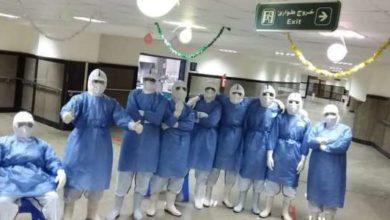 Photo of احتفالات الأطباء والعاملين بمستشفيات العزل بعيد الأضحى (صور)