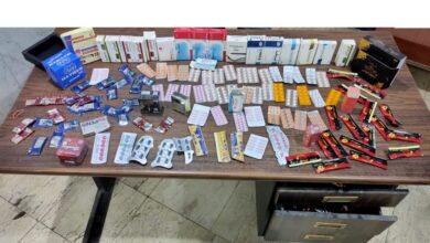 """صورة ضبط أقراص """"ترامادول"""" و 1230 عبوة دوائية مغشوشة بمخزن غير مرخص فى الفيوم"""