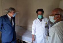 صورة إنهاء عمل مسشتفى التأمين الصحي ببني سويف كمستشفى عزل