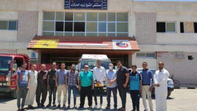 صورة صحة شمال سيناء: وصول تجهيزات العناية المركزة لمستشفى الشيخ زويد