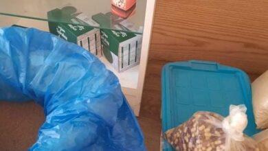 صورة ضبط ملايين الأقراص المجهولة ومواد مغشوشة بمخزن أدوية